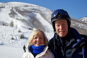 Lynn Snyder and Jay Patchett enjoy a beautiful Park City afternoon