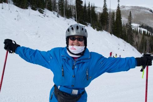 Zlata Kovac feels the joy of Park City skiing