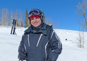 Alvaro Lema skis all over the world, but he always attends Road Scholar's Park City Ski University