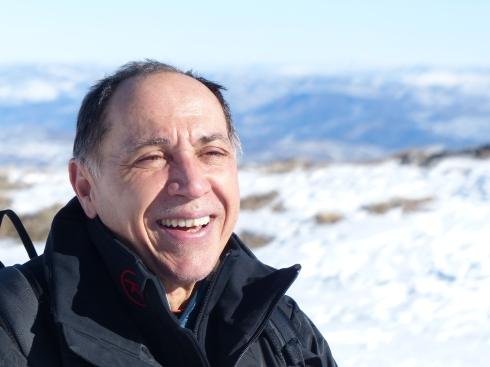 Tony Cucchiara, skier, historian, and amateur boxer, enjoying a perfect day at Park City