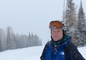 Craig Moyer during a run down Park City's snowy slopes