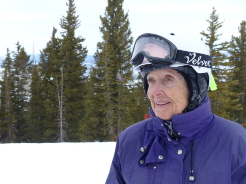 Edie Dempster skis much of the Rocky Mountain West with Road Scholar.
