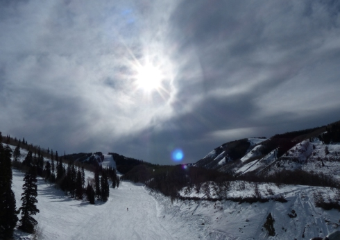 A dramatic afternoon sky from King Con Lift.